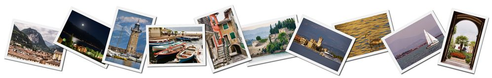 Collage of Lake Garda photos Royalty Free Stock Photo