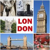 London landmarks collage Royalty Free Stock Images