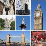 London landmarks collage Stock Photos