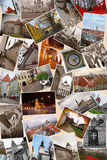 Collage of landmarks of Tallinn. Estonia Stock Image