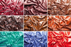 Collage: leather Stock Photo