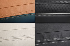 Collage of  leather samples Royalty Free Stock Photos