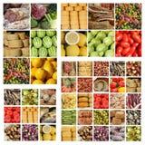Collage lento italiano de la comida Foto de archivo