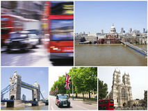 Collage of London city Royalty Free Stock Images