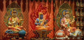 Collage of The Lord Buddha from Tooth Relic Temple Royalty Free Stock Images