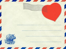 Collage, a love letter. Vintage postcard. Royalty Free Stock Photography