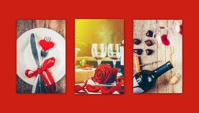 Collage of love and romance. Selective focus Stock Photography