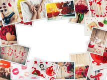 Collage of love and romance. Selective focus Stock Photos