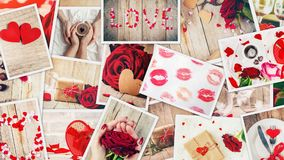 Collage of love and romance. Selective focus Royalty Free Stock Photo