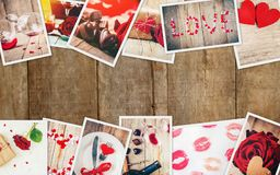Collage of love and romance. Selective focus Royalty Free Stock Photos
