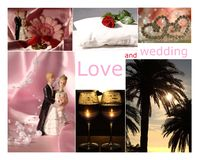 Collage with love, wedding Royalty Free Stock Photography