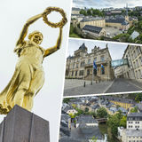 Collage of Luxembourg images - travel background (my photos) Royalty Free Stock Photo