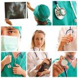 Collage médico Fotografía de archivo libre de regalías