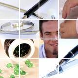Collage médico fotos de archivo libres de regalías