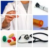 Collage médico - S Fotos de archivo