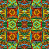 Collage made of African motifs, textile patchworks Royalty Free Stock Images