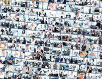 Collage made of business pictures Royalty Free Stock Photo