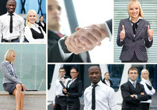Collage made of business pictures with people Royalty Free Stock Photo