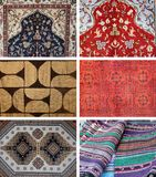 CARPETS. Collage made  of six different carpet Stock Image