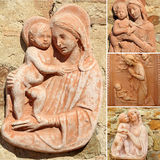 Collage with Madonna and child Stock Photography
