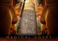 Collage 003. Magical Egypt Poster royalty free stock photos