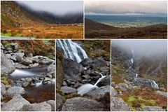 Collage mahon falls Stock Photos
