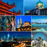 Collage of Malaysia images Stock Photography