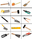 Collage of many different tools Royalty Free Stock Image
