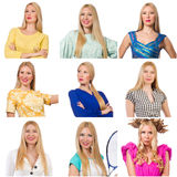 Collage of many faces Royalty Free Stock Photo