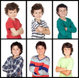 Collage of many images with the same child Royalty Free Stock Photo
