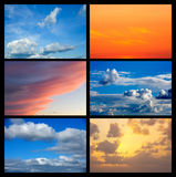 Collage of many images with sky Royalty Free Stock Images