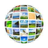 Collage of many   photos Stock Photo