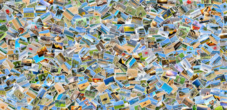 Collage of many photos Stock Photos