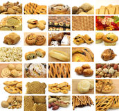 Collage of many snacks Stock Photography
