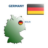 Collage map flag badge germany Royalty Free Stock Photos