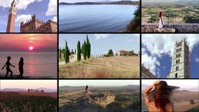 Collage maravilloso de Toscana almacen de metraje de vídeo
