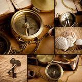 Collage of marine still life Royalty Free Stock Photos