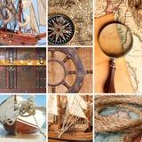 Collage marino Fotos de archivo libres de regalías