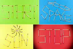 Collage of matchsticks Royalty Free Stock Image