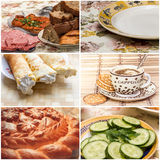 Collage with meals Stock Photo