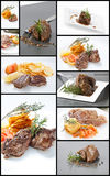 Collage meat Stock Photos