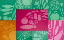 Collage med bilder av mat royaltyfri fotografi