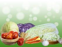 Collage med grönsaker Arkivfoton