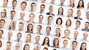 Collage med många stående för affärsfolk royaltyfri foto