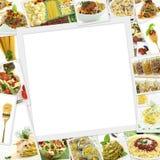 Collage med olik pasta Arkivbilder