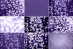 Collage med ultraviolet tonade bilder Pantone färg av jarösten Arkivfoton