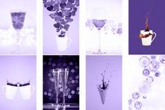 Collage med ultraviolet tonade bilder Pantone färg av jarösten Royaltyfri Fotografi