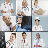 Collage of medical team Stock Photo
