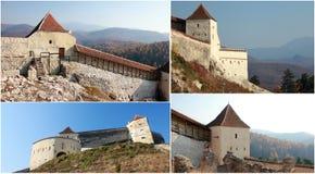 Collage medieval de la ciudadela fotografía de archivo