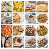 Collage mediterranean cuisine Stock Images